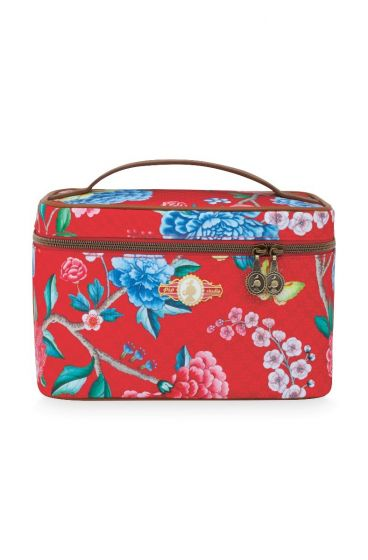 Beautycase medium Floral Good Morning Rot