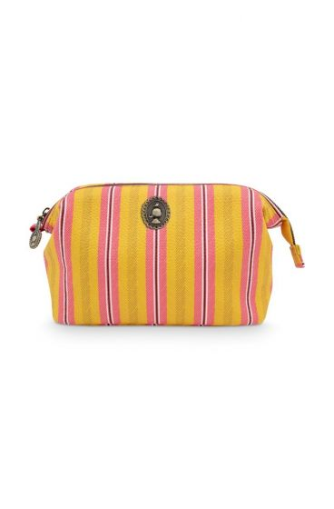 Cosmetic Purse Small Blurred Lines Yellow