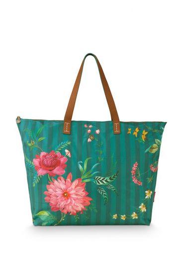 beach-bag-fleur-grandeur-green-66x20x44-cm-nylon/satin-1/24-pip-studio-51.273.234