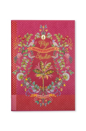 Exercise book A4 squared Jungle Animals pink