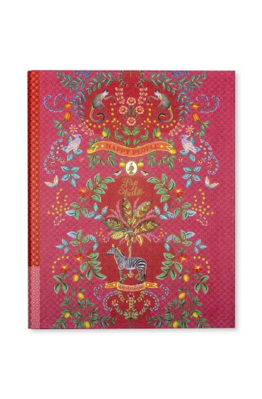 Ringbuch A4 Jungle Animals 23 Ringe rosa