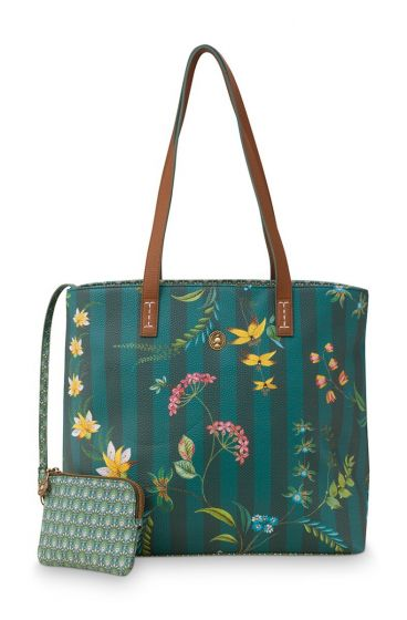 shopper-medium-fleur-grandeur-green-32/47x18.5x31-cm-artificial-leather-1/12-pip-studio-51.273.240