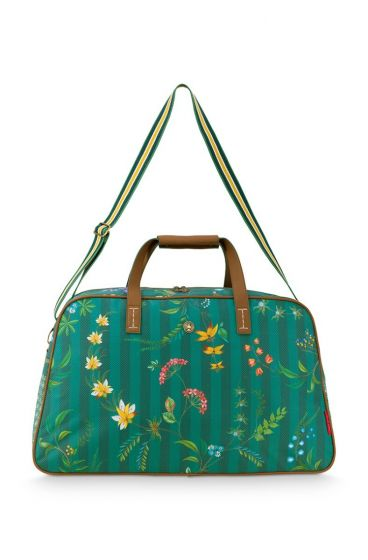 weekend-bag-medium-fleur-grandeur-green-57x22x37-cm-nylon/satin-1/12-pip-studio-51.273.236