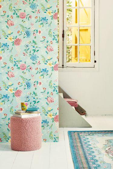 wallpaper-non-woven-vinyl-flowers-light-blue-pip-studio-good-evening