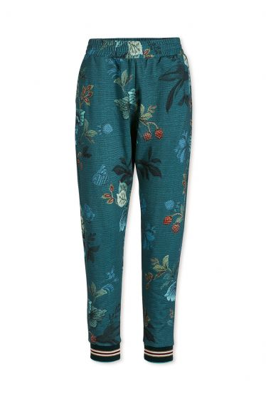 Trousers Long Leafy Stitch Blue