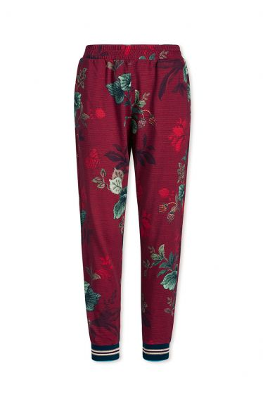 Trousers Long Leafy Stitch Red