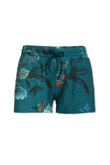 Trousers Short Leafy Stitch Blue