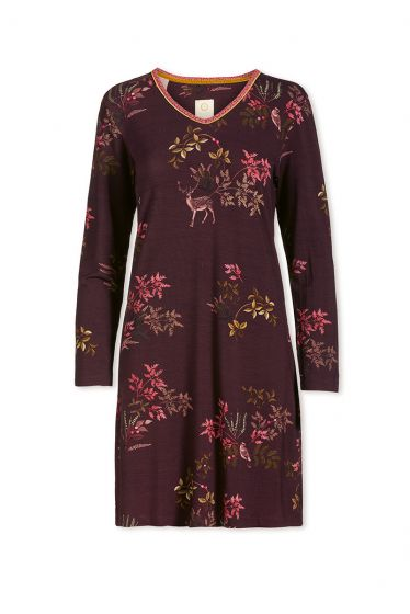 Nightdress Woodsy Tales Dark Red