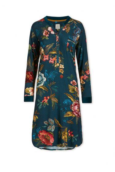 Nachthemd Lange Mouw Poppy Stitch Blauw