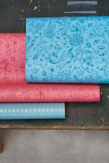 wallpaper-non-woven-vinyl-flowers-sea-blue-pip-studio-spring-to-life-two-tone