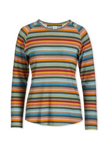 Top Long Sleeve Folklore Stripe Multi
