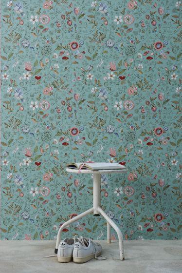 tapete-vliestapete-blumen-grün-pip-studio-spring-to-life