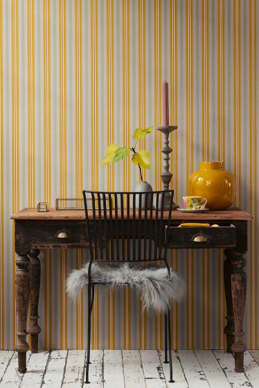 tapete-vliestapete-lines-ocre/caramel-pip-studio-blurred-lines