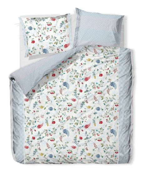 Duvetcover Hummingbirds Star White