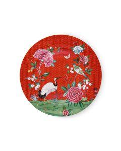 Blushing Birds Underplate Red 32 cm