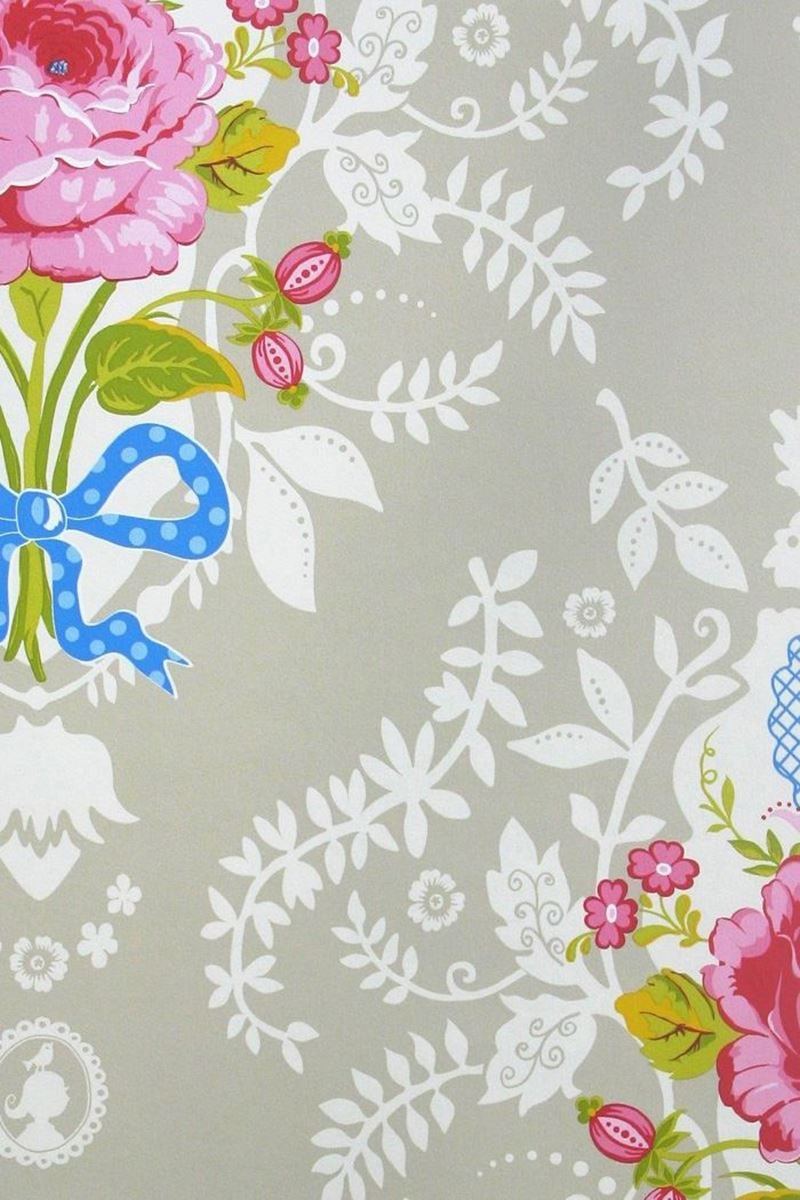 Shabby Chic wallpaper khaki | Pip Studio the Official website
