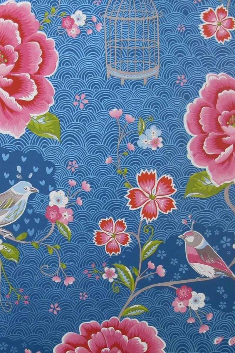 Birds In Paradise Wallpaper Dark Blue Pip Studio The Official Website