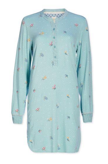 Nightdress buttons Grand Berry blue
