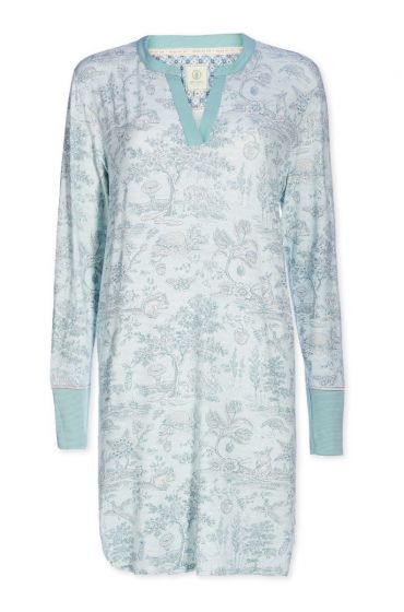 Nightdress V-neck Hide and Seek blue