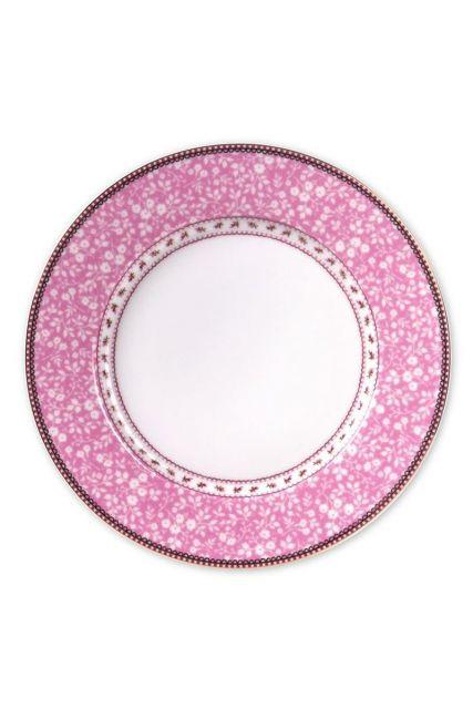 Floral Essteller rosa 26,5 cm