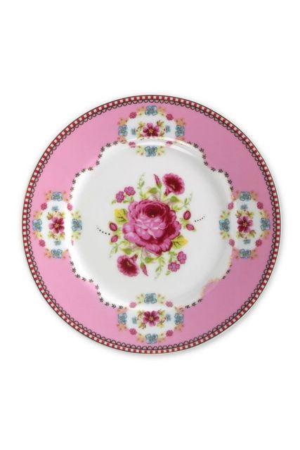 Floral Gebäckteller rosa