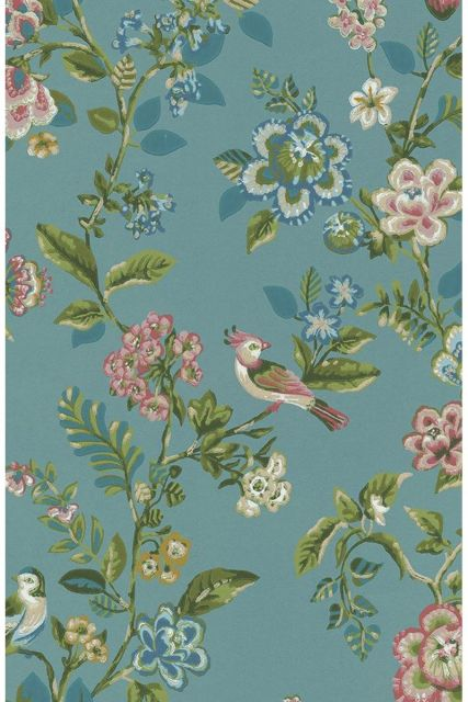wallpaper-non-woven-vinyl-flowers-bird-sea-blue-pip-studio-botanical-print
