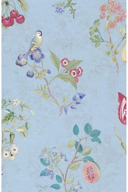 wallpaper-non-woven-vinyl-flowers-bird-light-blue-pip-studio-cherry-pip