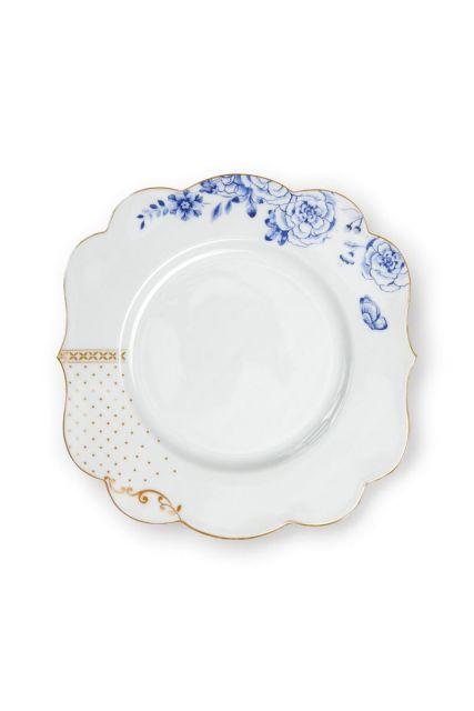 Royal White Frühstücksteller golden dots 23,5 cm