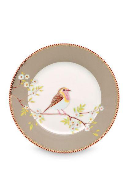 Floral ontbijtbord Early Bird Khaki 21 cm