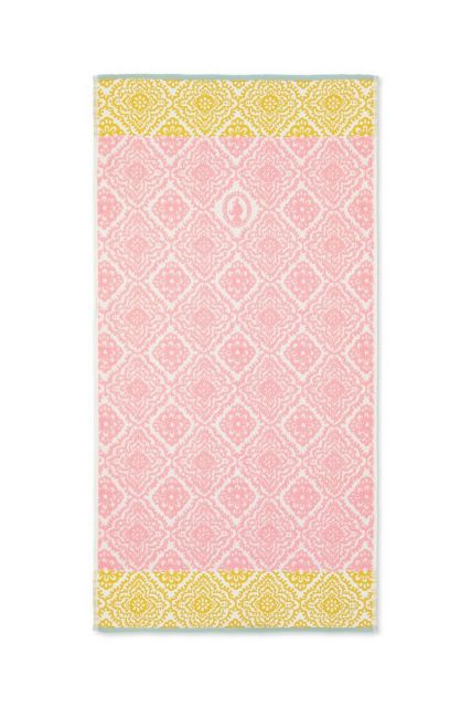 Badetuch Jacquard Check rosa 55x100 cm