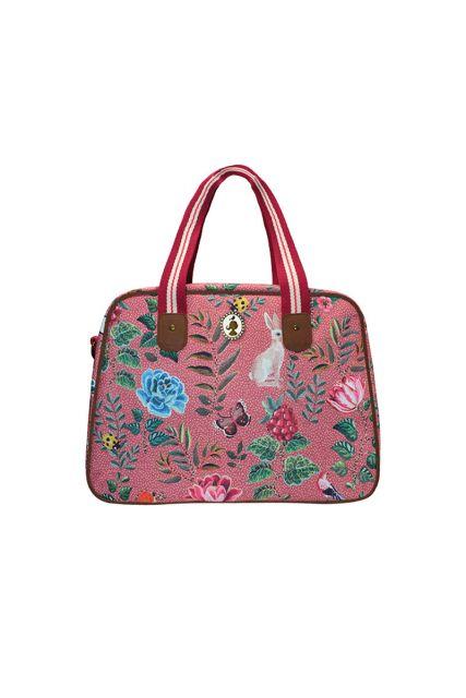 Telling Tales pink bowling bag