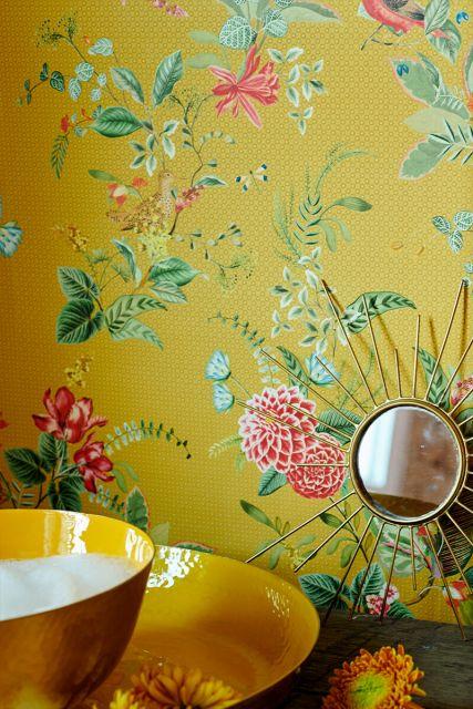 wallpaper-non-woven-vinyl-flowers-yellow-pip-studio-floris