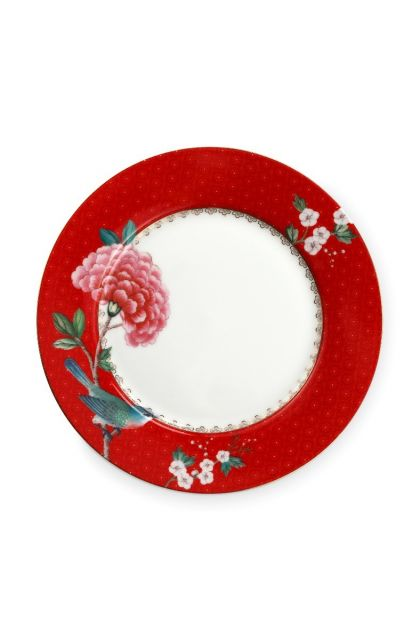 Assiette Dessert Blushing Birds Rouge - 21 cm