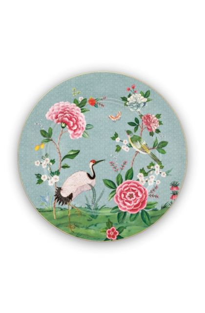 Blushing Birds Underplate blue 32 cm