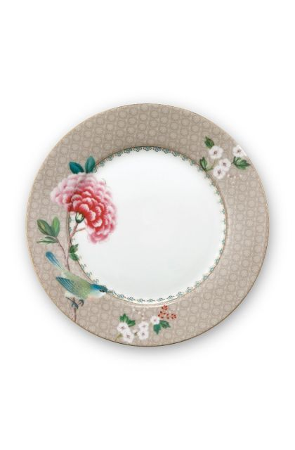 Blushing Birds Breakfast Plate Khaki 21 cm