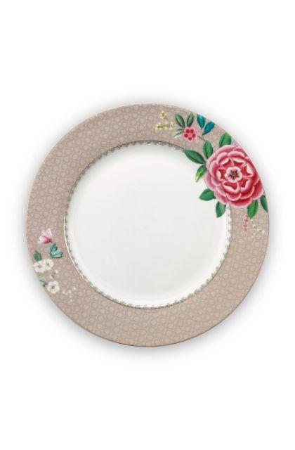 Blushing Birds Dinner Plate Khaki 26.5 cm