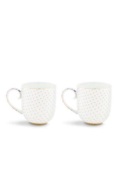 Royal White Set/2 mokken klein