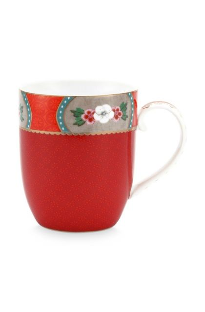 Blushing Birds Mug Small Red