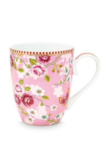 Early Bird Mug large Chinese Rose Pink