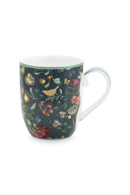 Winter Wonderland Mug Small Dark Blue