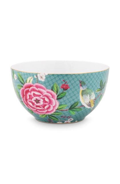 Blushing Birds Bowl blue 15 cm