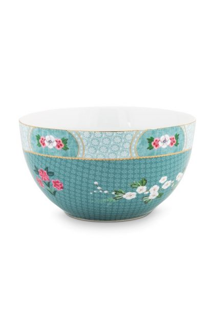 Blushing Birds Bowl blue 18 cm