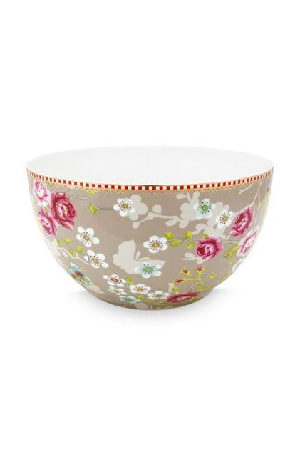 Early Bird Bowl Chinese Rose Khaki 18 cm