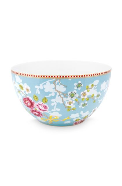 Early Bird Bowl Chinese Rose Blue 18 cm