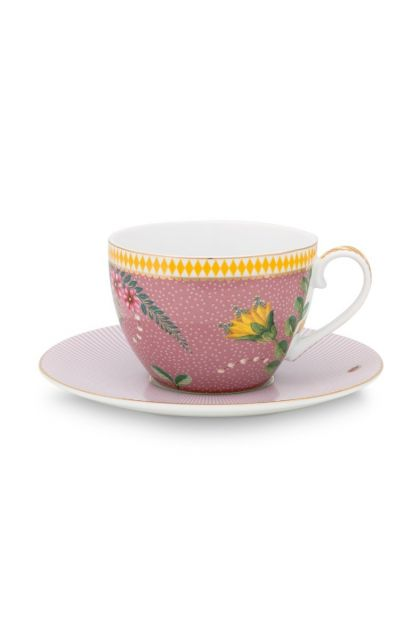 La Majorelle Cappuccino Cup and Saucer Pink