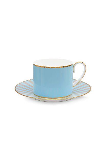 Love Birds Cup & Saucer Blue