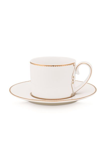 Espresso-cup-and-saucer-125-ml-white-gold-details-love-birds-pip-studio