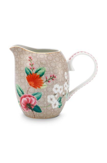 milk-jug-small-khaki-flower-print-blushing-birds-pip-studio-250-ml