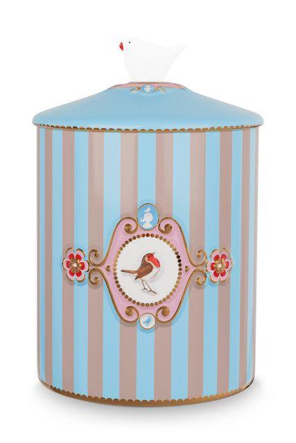Love Birds Storage Jar Blue/Khaki