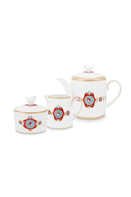 Tea-set/7-white-gold-details-love-birds-pip-studio